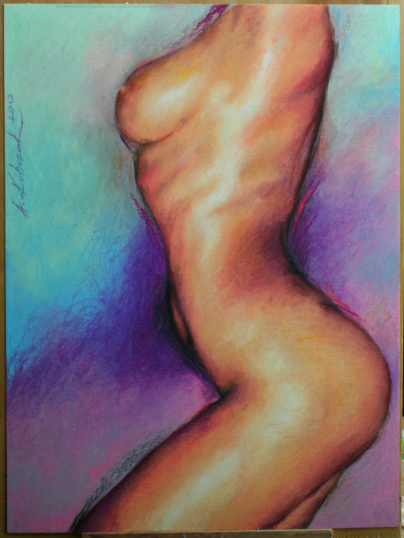 Artysta malarz Anna Kubczak, obraz rysowany pastelą oleją