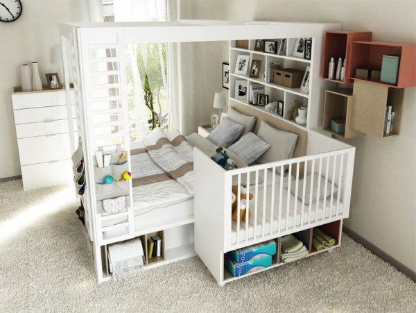 Kolekcja mebli 4 You By Vox - Łóżeczko dla dziecka w sypialni rodziców